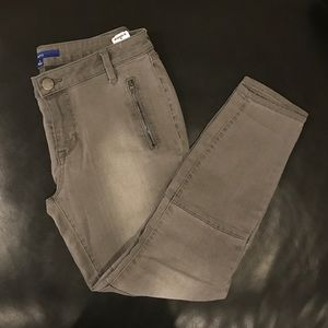 Gray Jeans with Zippers
